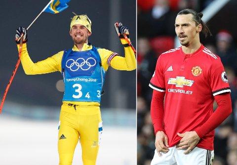 HUMOR: Fredrik Lindström og de andre svenske gullheltene fikk beskjed om at de hadde fått gratulasjon fra Zlatan Ibrahmovic, men det stemte ikke.