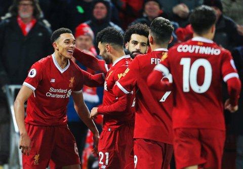 LOVENDE UNGGUTT: Trent Alexander-Arnold har fått et lite gjennombrudd for Liverpool denne sesongen.
