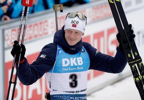 AVSLUTTER SESONGEN: Johannes Thingnes Bø og co. avslutter sesongen i Kontiolahti denne helgen.
