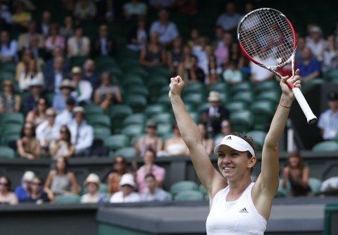 SEMI-KLAR: Simona Halep vant over Sabine Lisicki i Wimbledon-kvartfinalen.