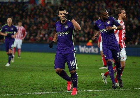 SCORET TO: Manchester Citys Sergio Agüero.
