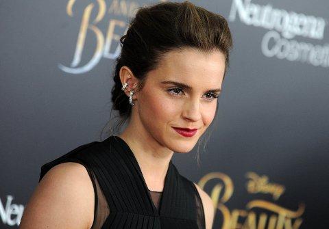 Emma Watson på premieren til «Skjønnheten og Udyret» i New York.