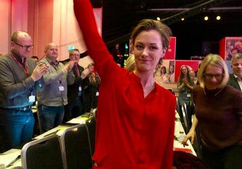 Nyvalgt leder av Aps kvinnenettverk: Anette Trettebergstuen, da hun ble valgt lørdag.