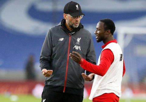 MÅ DE SKILLES? Liverpool-manager Jürgen Klopp investerte mye penger da han kjøpte Naby Keïta fra RB Leipzig for to år siden. Nå kan sjefen bli ledet mot å selge midtbanespilleren fra Guinea.