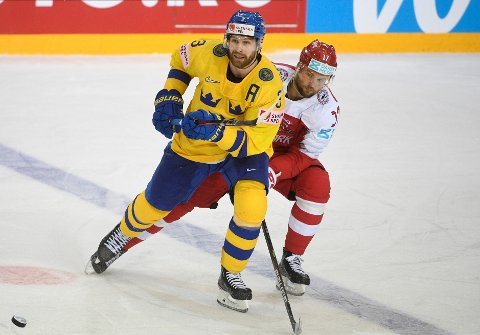 Nicklas Jensen var i storform da Danmark slo Sverige 4-3 i VM lørdag. Foto: Oksana Dzadan / AP / NTB