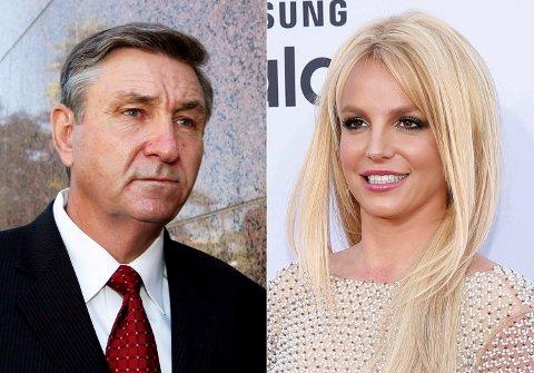 James Spears, faren til artisten Britney Spears, blir ikke fjernet som datterens verge etter at domstolen Los Angeles har vurdert kravet fra Britney Spears og hennes advokat. Foto: AP/ NTB