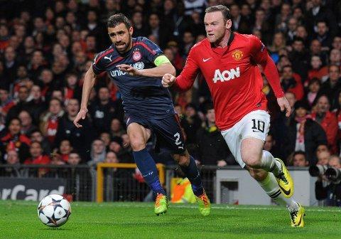 TØFF KAMP: Wayne Rooney og Manchester United møter Bayern München.