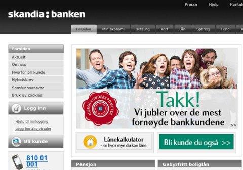 Skandiabanken setter pris på fornøyde kunder, men neppe dem som utnytter tekniske feil i nettbanken til egen vinning.