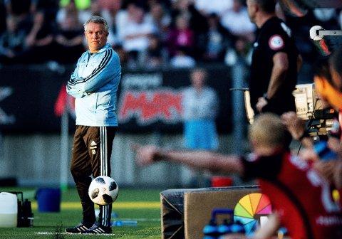 FOKUS PÅ EGNE FEIL: Rosenborg og trener Kåre Ingebrigtsen fikk ikke hjelp av dommerne da det ble tap hjemme mot Brann i storkampen på Lerkendal.