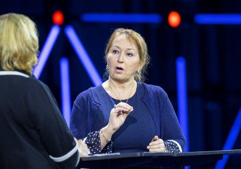 VEKKER BEKYMRING: Styreleder i KS Gunn Marit Helgesen er bekymret for de nye tallene presentert om trusler mot lokalpolitikere.