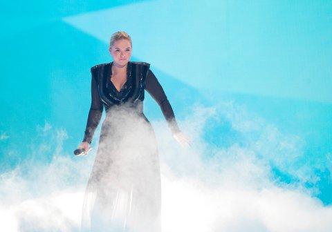Alexandra Rotan og i gruppen KEiiNO under fredagens prøver før lørdagens Eurovision Song Contest finale.