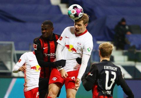 FIKK EN OMGANG: Alexander Sørloth ble byttet ut ved pause i møtet med Eintracht Frankfurt lørdag kveld.