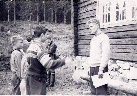 SPEIDERHISTORIE: Troppsleder Hans Monrad og Mår-patruljen ved troppskonkurransen i 1959. Sist søndag feiret 1. Røa speidergruppe hele 75 år.
