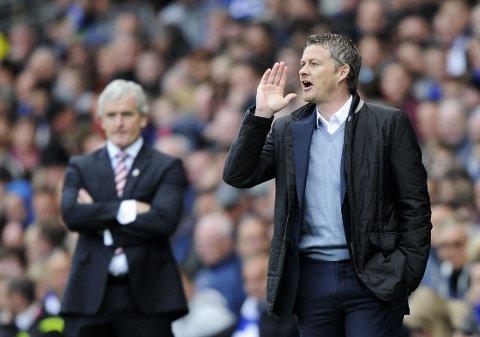 KRITISERER DOMMEREN: Ole Gunnar Solskjær mener Stoke aldri skulle fått tildelt straffespark mot Cardiff.