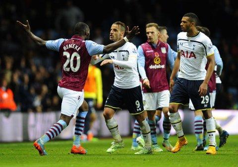 UTVIST: Christian Benteke viste seg fram på både godt og vondt mot Tottenham.