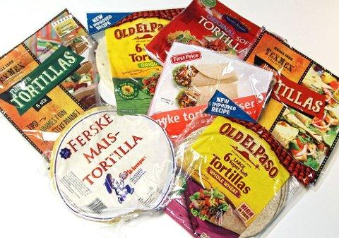 TORTILLA: Ønsker du den sunneste tortillalefse til tacoen? Da er det noen punkter du bør se etter.