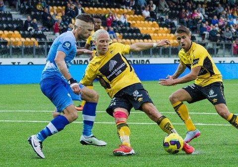 MANN FOR SLUTTMINUTTENE: Starts Lars-Jørgen Salvesen satte inn 1-1 på tampen av eliteseriekampen mot Sogndal søndag.