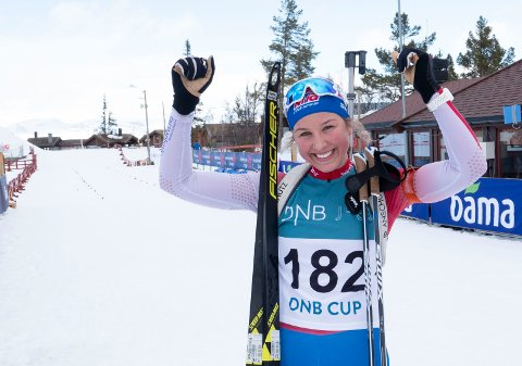 Synne Owren gikk inn til sølvet på jaktstarten i junor-VM onsdag. Foto: Geir Olsen / NTB