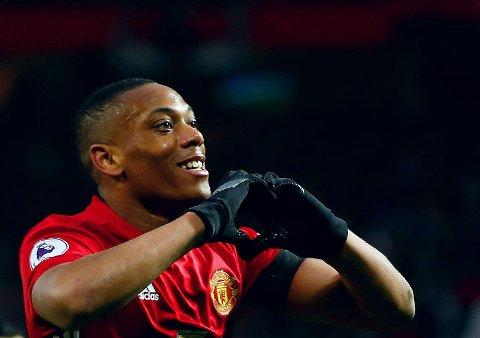 BEDRE ENN RYKTET SITT? Anthony Martial var strålende da Manchester United kjørte over Watford på Old Trafford lørdag.