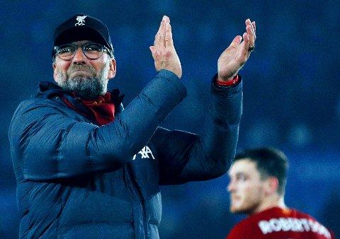 ØNSKET SØROVER: Jürgen Klopp har all grunn til å applaudere seg selv og Liverpool for prestasjonene denne sesongen. Resultatene har nå fått andre klubber til å ta kontakt med tyskeren.
