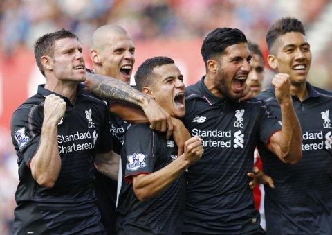 VILL JUBEL: Liverpool vant borte på en dårlig dag.