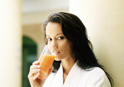 Ikke like mange velger appelsinjuice i kostholdet, som tidligere.