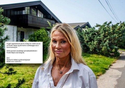 MELDER SEG UT: Høyres ordførerkandidat i Hvaler, Marita Wennevold Hollen, bekrefter i en epost at hun og mannen har meldt seg ut av Hvaler Høyre etter å ha tapt ordførerkampen i kommunen.