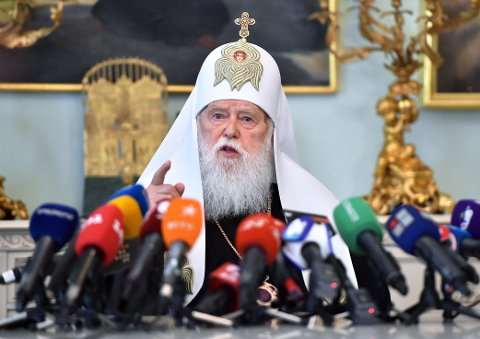 Patriark Filaret i Ukraina, har blitt syk med covid 19. En sykdom han mener er sendt av Gud som straff for spesielt ekteskap mellom samme kjønn.