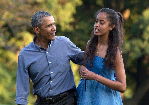 TAKKET NEI: President Barack Obama vil ikke tale på datterens avslutning.