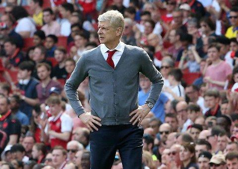 SNART FERDIG: Arsenal vant den første kampen etter at det ble klart at Arsene Wenger gir seg som Arsenal-manager.