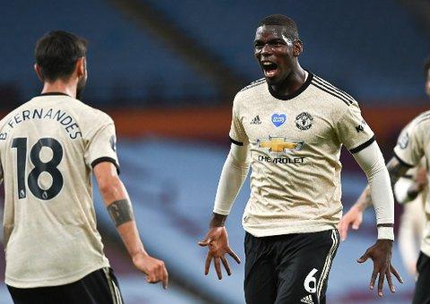 Manchester United og Paul Pogba (t.h.) er i kjempeform. Vi tror de går til semifinalen i Europa League mandag.