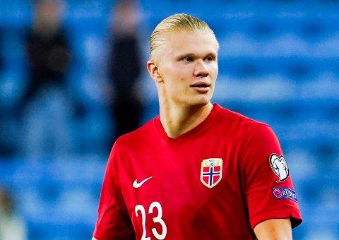 VIKTIG: Erling Braut Haaland er en viktig mann for det norske landslaget, som snart skal ut i avgjørende VM-kvalikkamper.