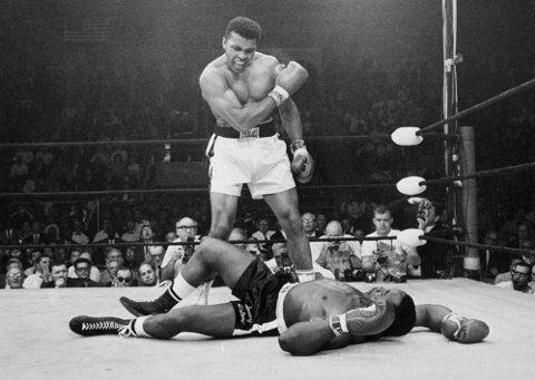 Muhammad Ali og motstander Sonny Liston.