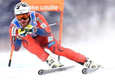 GODT MED: Det var ikke mange som viste bedre takter enn Kjetil Jansrud i Lake Louise fredag.