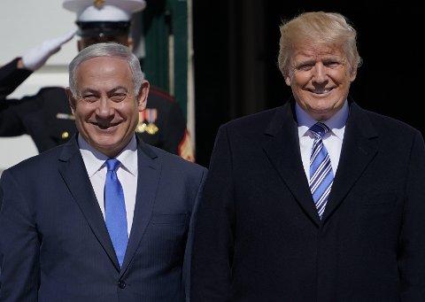 USAs president Donald Trump avbildet sammen med Israels statsminister Benjamin Netanyahu i Det hvite hus i mars måned.
