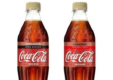 NY SMAK: Fra og med uke 42 vil Coca-Cola med kanelsmak være i norske butikkhyller.