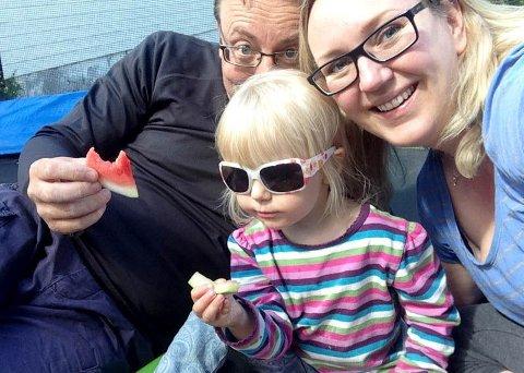 LYKKELIG I NORGE: Marte Frimand-Anda og familien forblir lykkelige i Norge gjennom hele sommeren.