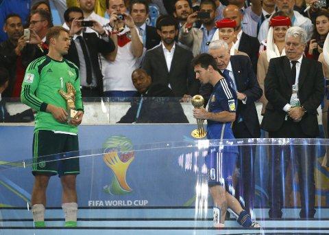 FIKK GULLBALLEN: Lionel Messi ble tildelt prisen som VMs beste spiller, til store reaksjoner fra flere hold.