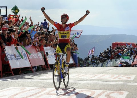 KUNNE JUBE: Alberto Contador vant Spania rundt.