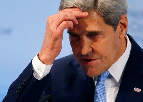 USas utenriksminister John Kerry da han talte i München lørdag.