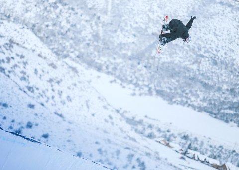 SØLVGUTT: Marcus Kleveland. Her avbildet på trening før X Games i Aspen.