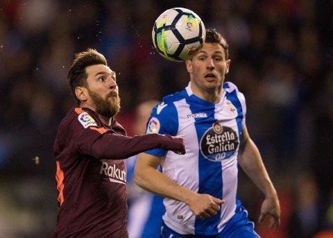 I SITT ESS: En målsugen Lionel Messi sikret Barcelona nok en ligatittel. Foto: / NTB scanpix