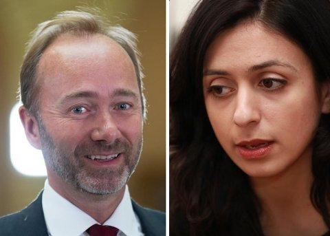 DEN GANG DA: For et halvt år siden delte Trond Giske og Hadia Tajik nestledervervet i Arbeiderpartiet.