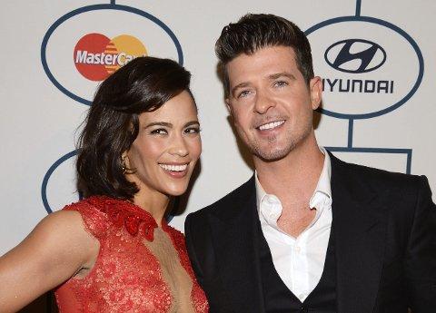 SEPARERT: Robin og Paula går fra hverandre - her sammen på MTV-festen i fjor.