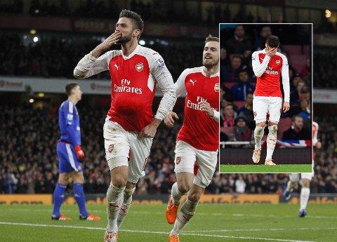 REVANSJ: Olivier Giroud scoret i begge ender mot Sunderland.