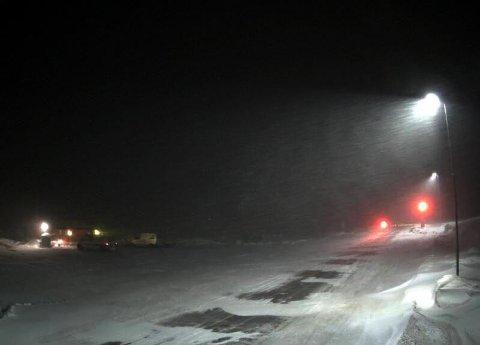 Slik så det ut på Hemsedalsfjellet lørdag ved 20-tiden.