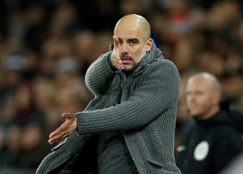 REAGERER: Manchester City-manager Josep Guardiola.