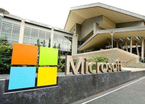 SOLID VINNER: Microsoft er i dag verdens mest verdifulle selskap, og aksjen er opp hele 27,5 prosent i år. Arkivfoto: Ted S. Warren / AP / NTB scanpix