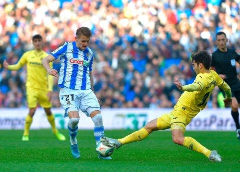 DRO I LAND POENGENE: Real Sociedad og Martin Ødegaard. Her fra en tidligere kamp mot Villarreal.