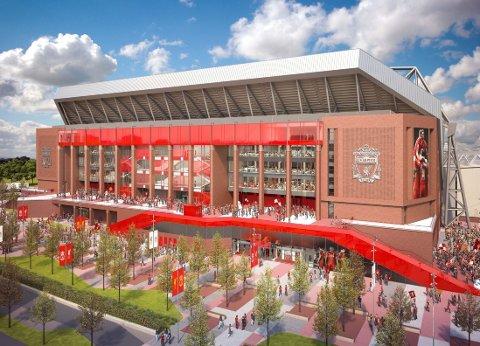 Nye Main Stand på Anfield koster én milliard kroner og gir 8500 nye seter.